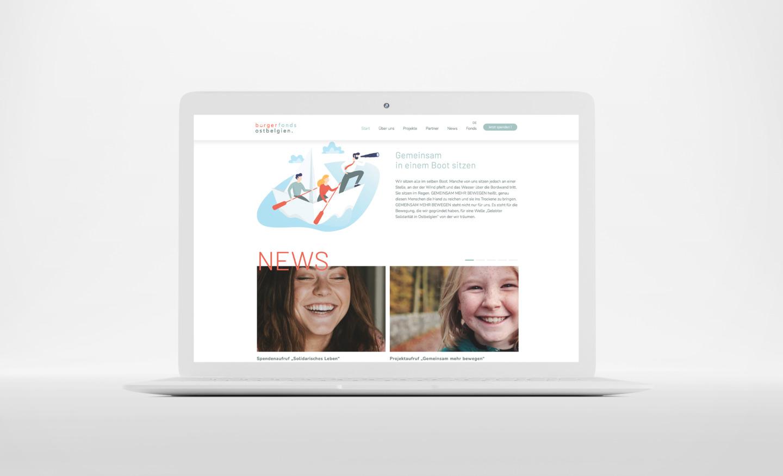 Bürgerfonds Webseite