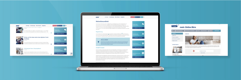 Freie Krankenkasse Webdesign