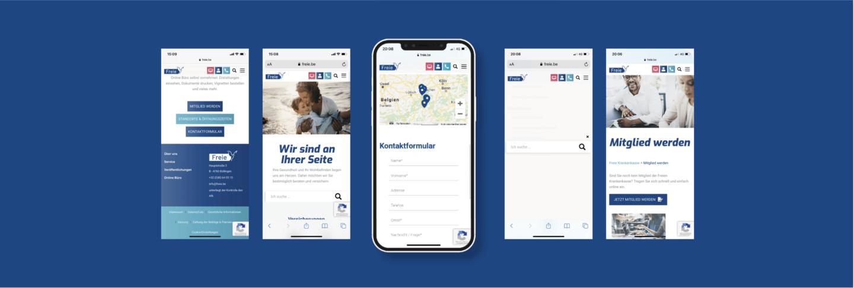 Freie Krankenkasse Responsive Webdesign