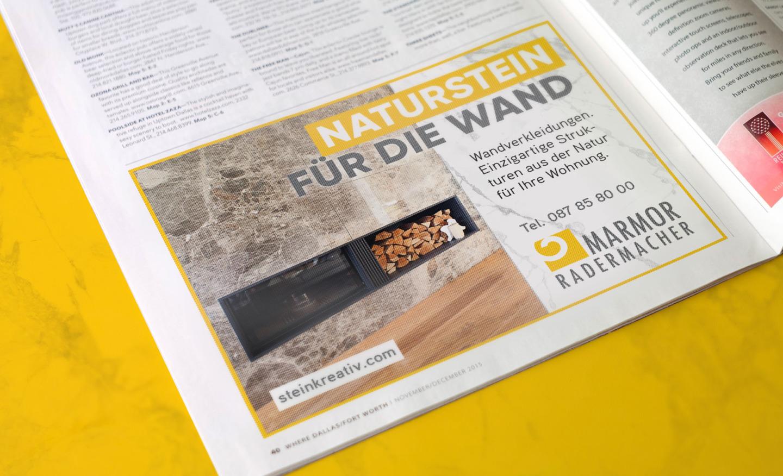 Marmor Radermacher Anzeige