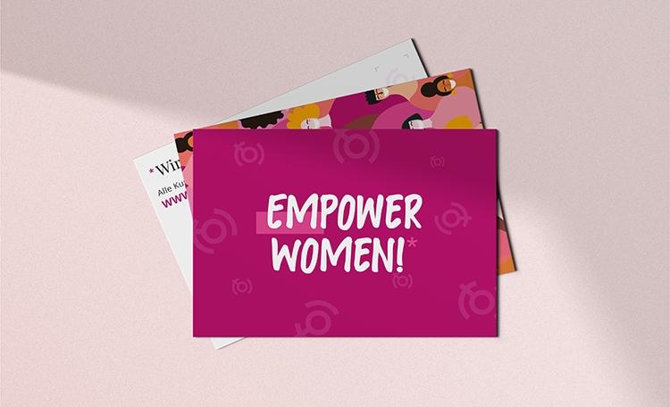 Frauenliga Postkarte