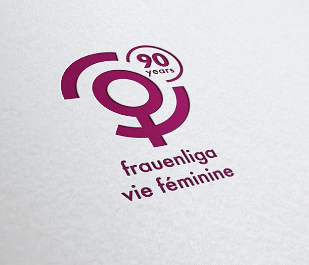 Frauenliga Logo 90 Jahre