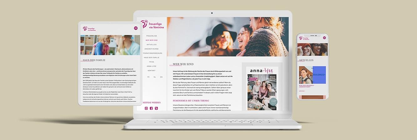 Frauenliga Webseite